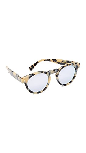 Illesteva Women's Leonard Mirrored Sunglasses, Cream Tortoise/Silver, One - Illesteva Sunglasses Leonard