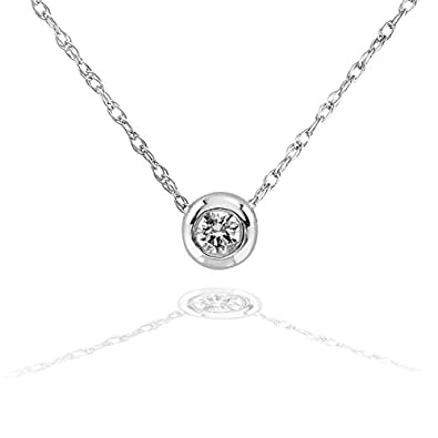 en necklace diamond solitaire classic gold claw in set k
