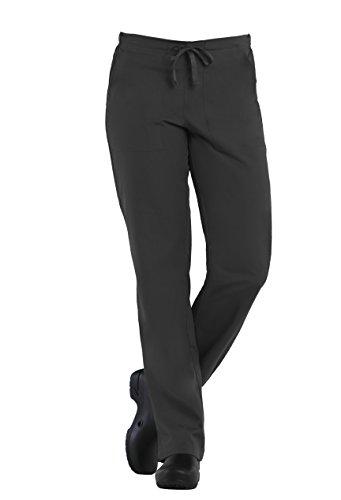 (Tru Basic Womens Comfortable Half Elastic Drawstring Scrub Pant 90102 (3X-Large, Pewter))