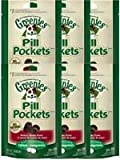 Greenies Canine Pill Pockets Hickory Smoke Tablet 30/pk – 6 Pack, My Pet Supplies