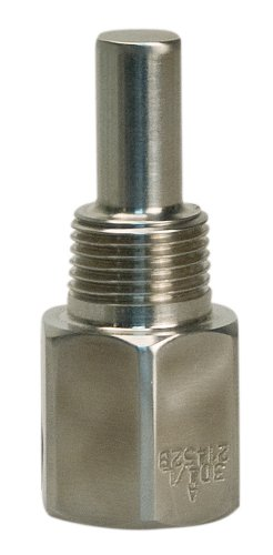 WIKA TH2R010CC 304 Stainless Steel Threaded Thermowell Reduced Shank, 1