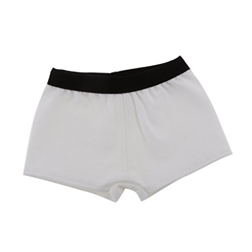 MagiDeal 1/3 White Boxers Underwear Panties for BJD SD DOD Dollfie Dolls Clothes