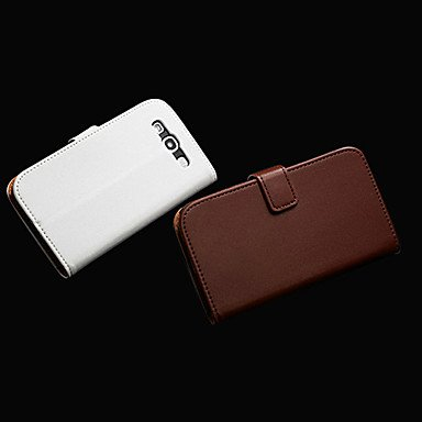 I9300 Snap (Genuine Leather Wallet Stand Design Case with Card Holder and Magnetic Snap for Samsung Galaxy S3 I9300 ( Color : White ))