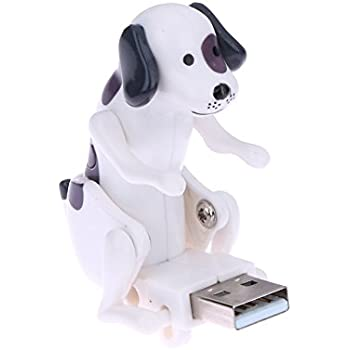 TTnight Funny Cute USB Humping Spot Dog Christmas Toy Gift (Black+White)