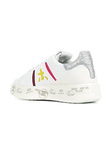 Premiata Ladies Belle3141 Sneakers In Pelle Bianca