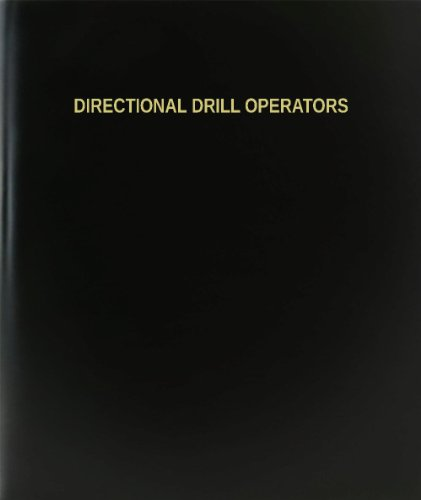 "BookFactory® Directional Drill Operators Log Book / Journal / Logbook - 120 Page, 8.5""x11"", Black Hardbound (XLog-120-7CS-A-L-Black(Directional Drill Operators Log Book))"