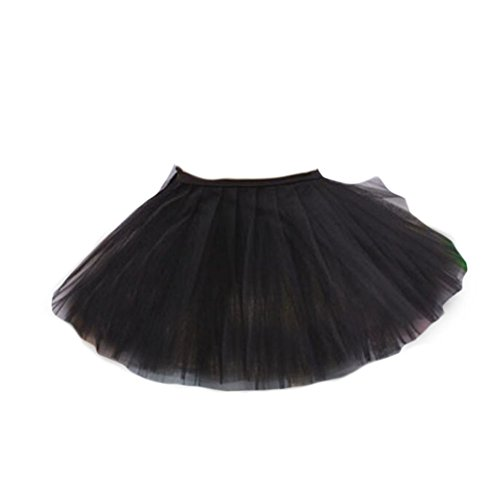 George Jimmy Three Layers Yarn Dance Skirt Kid Swan Lake Costumes Ballet Dress-Black by George Jimmy