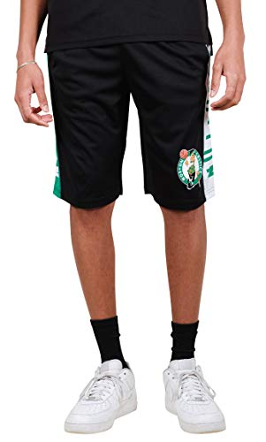 Ultra Game NBA Boston Celtics Men's Mesh Athletic Active Basketball Shorts, Black, Small