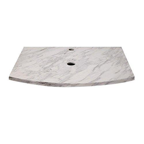 Decolav 1677-MBI Lola 25-Inch Stone Vanity Countertop, Bianco Marble by Decolav (25