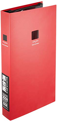 Kokuyoa-NP930R pochette album black mount slim A4 sheet L300 red (japan -