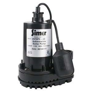 Simer 2975pc 1 2 Hp Submersible Sump Pump Amazon Com