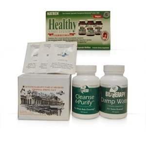 #1 Biotherapy Anti-Candida Kit (Karlovy Vary Thermal Spring Salt • Healthy Start • Damp Water • Lower Bowels) - Fights Candida-Yeast Overgrowth in Men and Women by Biotherapy