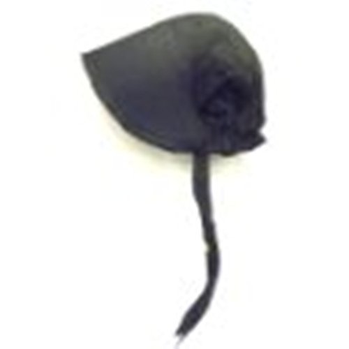 100% Black Cotton Prairie Pilgrim Amish Bonnet Large Thanksgiving Hat]()