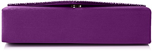 Swankyswans Abby Diamante Envelope Style Bag - Bolso Mujer morado (Purple)