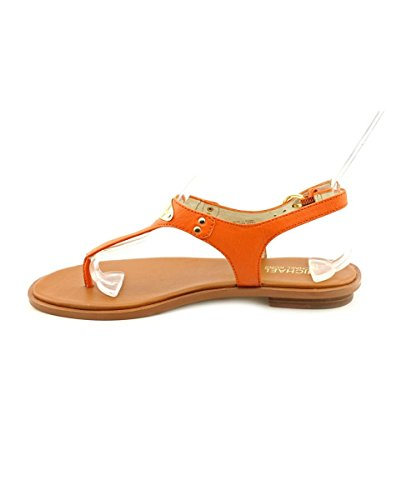 MICHAEL Michael Kors Womens Plate Leather Split Toe Casual, Orange, Size 6.5