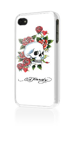 Ed Hardy Snap-On Case for iPhone 4 - Skull and Rose - Fit...