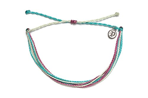 Pura Vida Good Vibes Bracelet - 100% Waterproof, Wax-Coated - with Iron-Coated Copper Charm