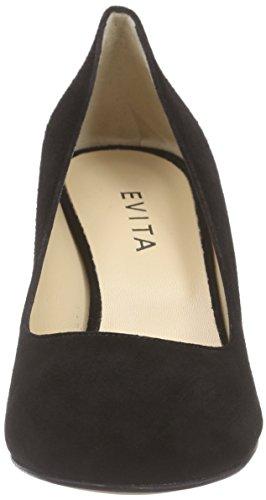 Chaussures Evita Dames Pompe Pompes Noires (black 10)