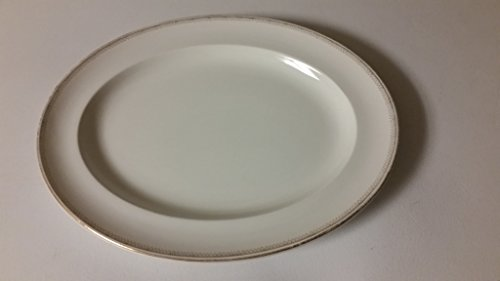 Alfred Meakin England 18 X 14.8 Inches Large Gold Rim Oval Platter
