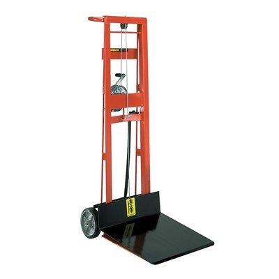 (Wesco 260017 Steel Frame 2 Wheeled Winch Pedalift, 750-lb. Capacity, 54