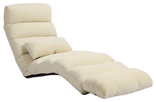 e-joy Relaxing Sofa Bean Bag Folding Sofa Chair, Futon Chair & Lounge, White