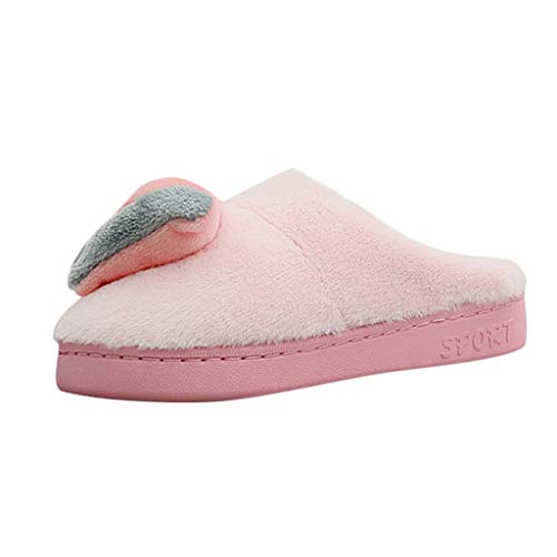 Midress Women's Girls Winter Cute Home Slippers Closed Toe Indoor Slippers Plush Cozy Non-Slip Flats Shoes Casual Warm Slippers