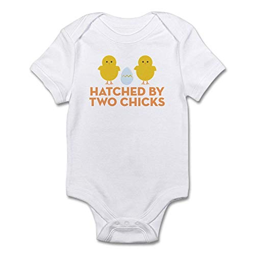 Hatched by Two Chicks Baby Bodysuit Shirt for Newborn Baby Girls Boys