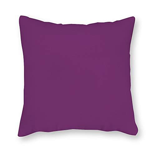 FabricMCC Sunbrella Iris Canvas Pillow Cover, Purple Outdoor Throw Pillow Cover, Violet Purple Throw Pillow, Decorative Plum Outdoor Throw Pillow 18 x 18 Inch