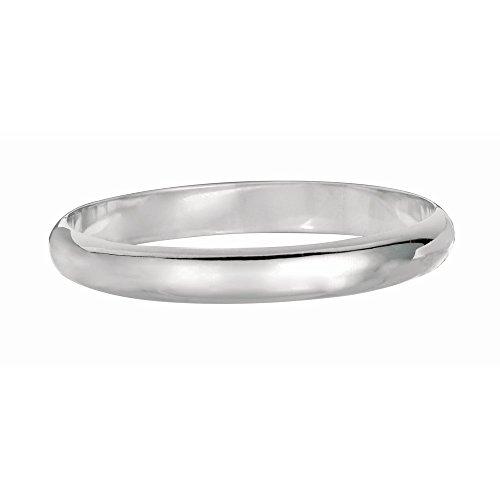 Argent Sterling Rhodium plaqué 7,5 pouces Bracelet JewelryWeb