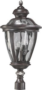 - Quorum Sloane - Five Light Post 7221-5-45, Baltic Granite Finish with Clear Glass