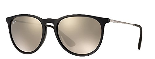 Ray Ban Erika Women's Wayfarer Sunglasses (54 mm, Black Frame Mirror Gold - Ban Gold Ray Wayfarer