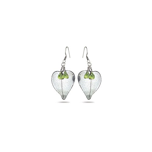 3.00 Cts Peridot Earrings in Sterling Silver - Valentine's Day Sale