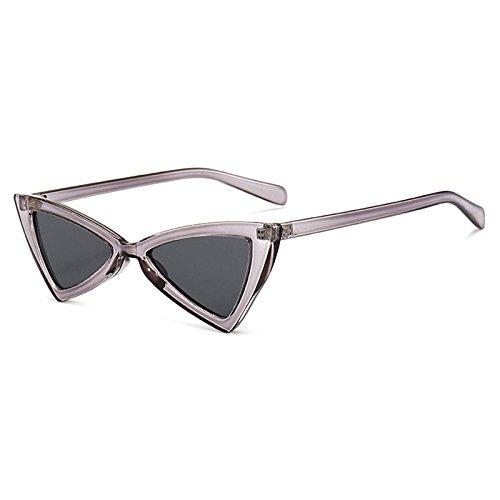 Femenina de C Pequeño de Gafas Ojo Gato Diseño Vintage Unisex Marca de Burenqi Gafas Nuevas Sol D Mujer Gafas Sol Mariposa Triángulo 6FqxxRPwA