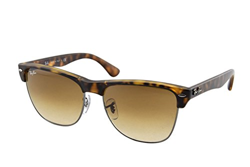 Ray-Ban Sunglasses Clubmaster Oversized Tortoise, RB4175 - 878/51 - Ban Round Ray Face Glasses
