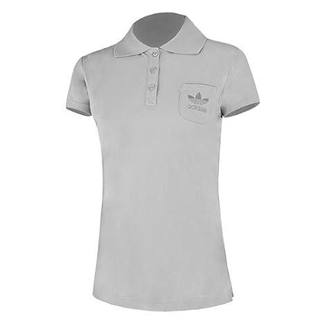 adidas Basic Polo Shirt Women light grey-metallic silver - 42 ...