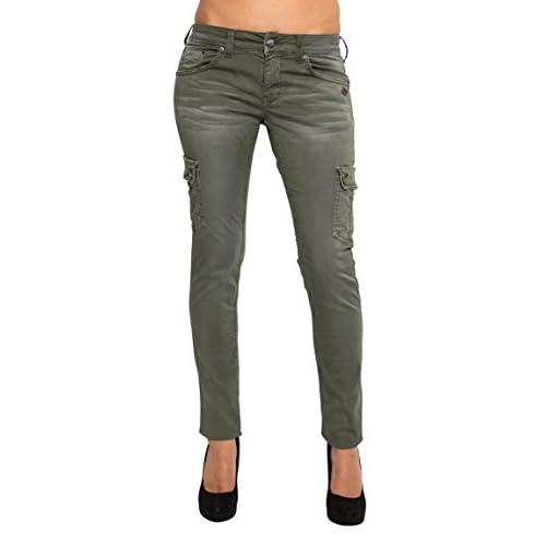 e3f6bfa9115b LOST IN PARADISE - Jeans - Slim - Femme Vert kaki  6LPcS1313559 ...