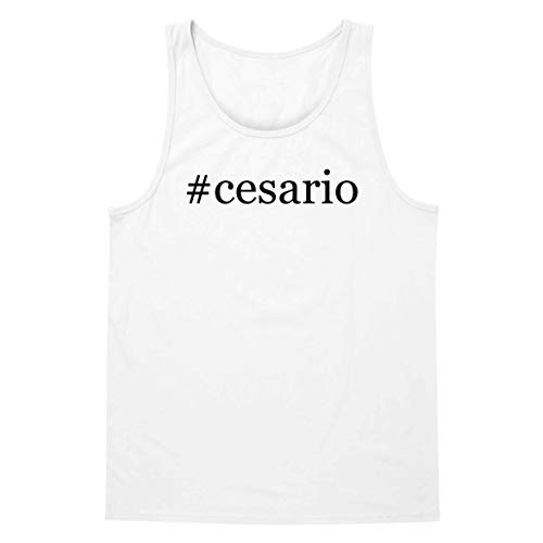 - The Town Butler #Cesario - A Soft & Comfortable Hashtag Men's Tank Top, White, X-Large