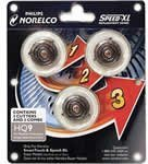 Norelco HQ9 Replacement Heads For Shaver Model 8140XL