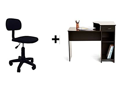 Mainstays Student Desk Bundle Black and Task Chair Armless  sc 1 st  Amazon.com & Amazon.com: Mainstays Student Desk Bundle Black and Task Chair ...