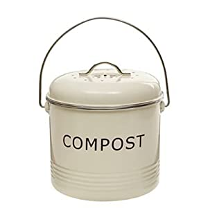 Lakeland Tabletop Compost Food Bin 3.5L   Cream