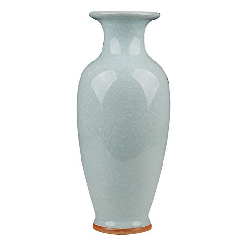 Antique Ceramic Chinese Vase Decorative Porcelain Vase Traditional Porcelain Flower Vase Modern Decorative Home Centerpiece Traditional Chinese Vase-h34cmxw15cm