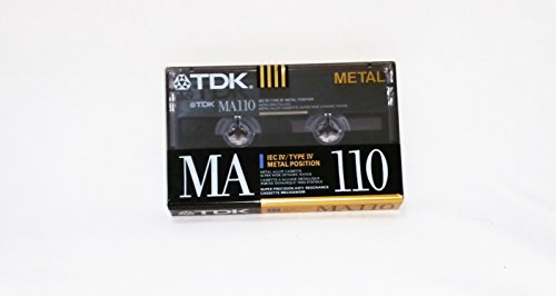 TDK MA110 Metal Biased Metal Alloy 110 Minutes Cassette Tape