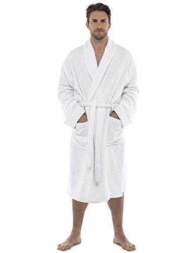 Mens Towelling Robe Towel Bathrobe Dressing Gown Bath Perfect for Gym Shower Spa Hotel Robe Holiday
