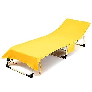 Lixada Funda para Silla de Salón de Playa de Secado Rápido Plegable para Toalla de Tumbona para Piscina Funda Antipolvo para Muebles de Jardín