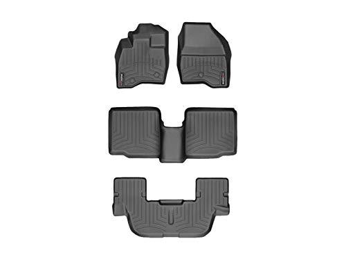 WeahterTech Custom FloorLiner for 2017-2019 Ford Explorer - 1st, 2nd, and 3rd Row (Black)