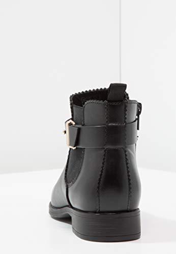 Chic Femmes Courtes Talon Anna Field Noir Élégant Insert Confort Bottines Pour Compensé Casual Avec Élastique HwwtFZqx