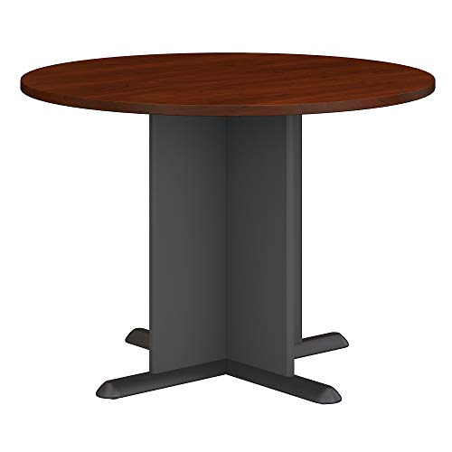 (Bush Business Furniture 42 Inch Round Conference Table in Hansen Cherry)