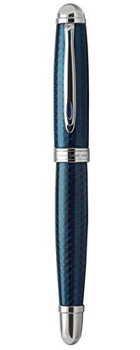 Xezo Freelancer Brass Rollerball Pen, Translucent Lacquer, Diamond-Cut, Blue (Freelancer Blue R) by Xezo (Image #3)