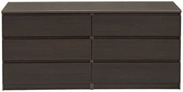 Laguna Dresser Double 6 Drawer Antique Modern Solid Chest Wooden Top Vanity Bedroom Furniture 60.50″ W x 19.50″ D x 28.00″ H