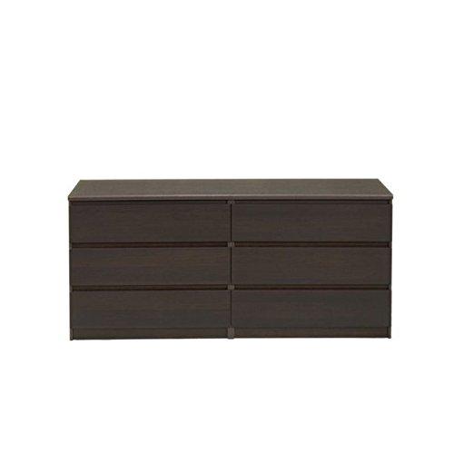 Tvilum Scottsdale 6 Drawer Double Dresser in (Coffee). (Furniture Contemporary Scottsdale Stores)